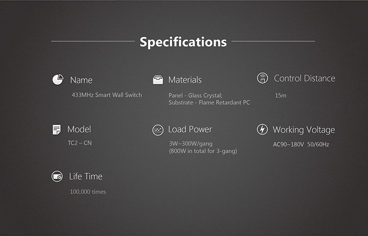specification broadlink interrupteur tactile